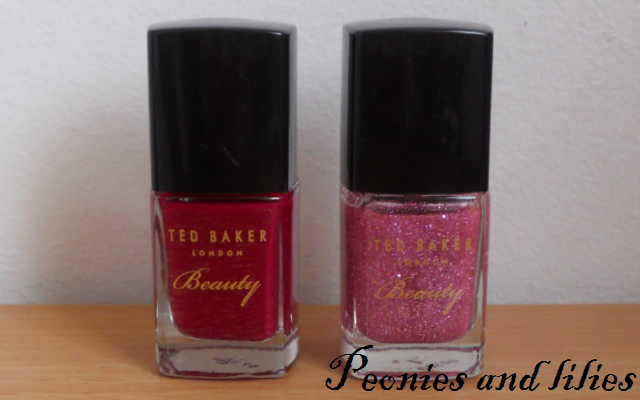 Ted baker cherry bomb nail duo, Ted baker cherry bomb nail polish, Ted baker sugar rush nail polish