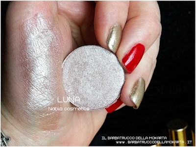 LUNA swatches  eyeshadow ombretto  goldust collection Nabla cosmetics