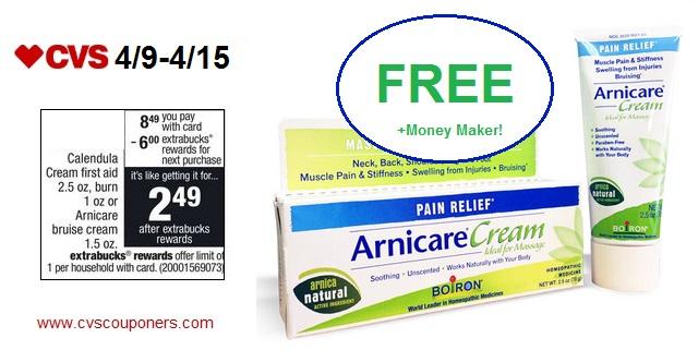 FREE + $2 51 Money Maker for Boiron Arnicare Bruise Cream at