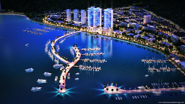 Phối cảnh dự án căn hộ Laluna Resort Nha Trang ban đêm Hotline 0896 356 386