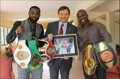 British High Commissioner Meets With Nigerian Boxing Champions In Lagos..Photos