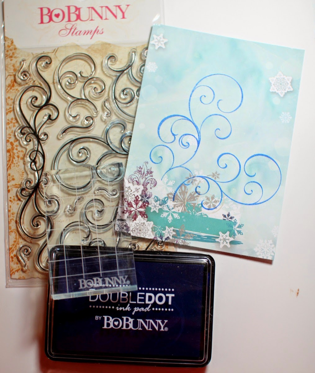 Stamping and Pearlescents tutorial by Ilene Tell using BoBunny Altitude