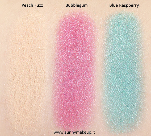 swatch Too Faced - Sugar Pop. Palette di ombretti primavera/estate 2015.