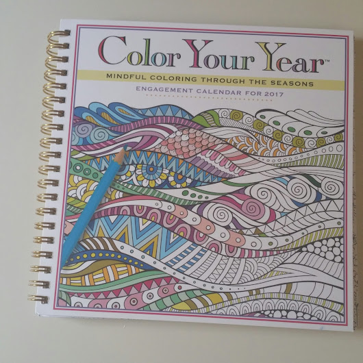 Color Your Year Calendar 2017