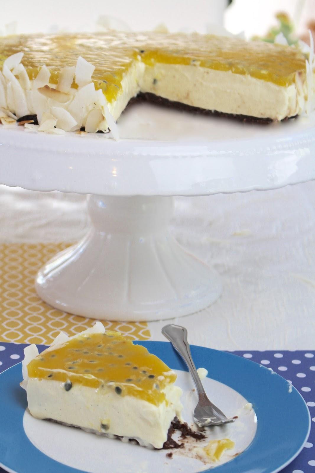 Cheesecake mit Kokos und Passionsfrucht