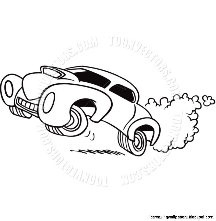Drag Race Car Clipart