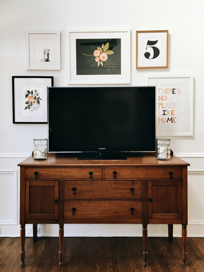 Hide a TV with a gallery wall