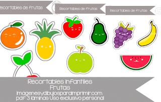 Dibujos para recortar de frutas