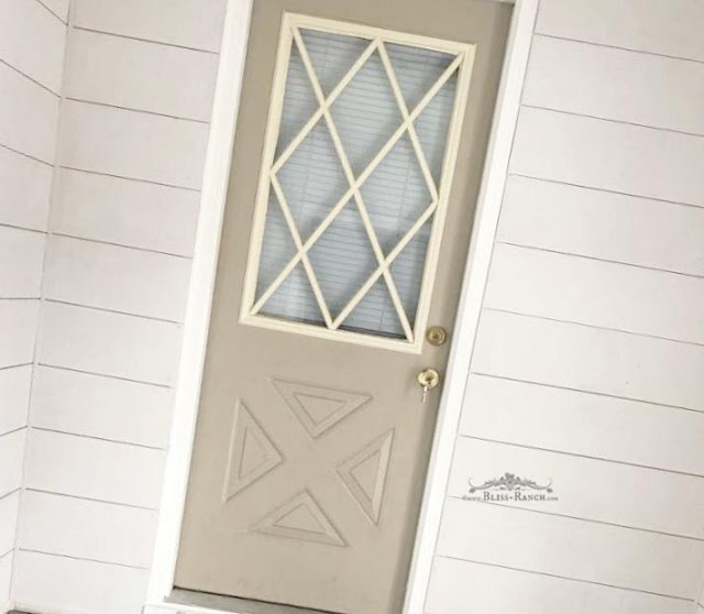 DIY Etched Glass Metal Door Makeover, Bliss-Ranch.com