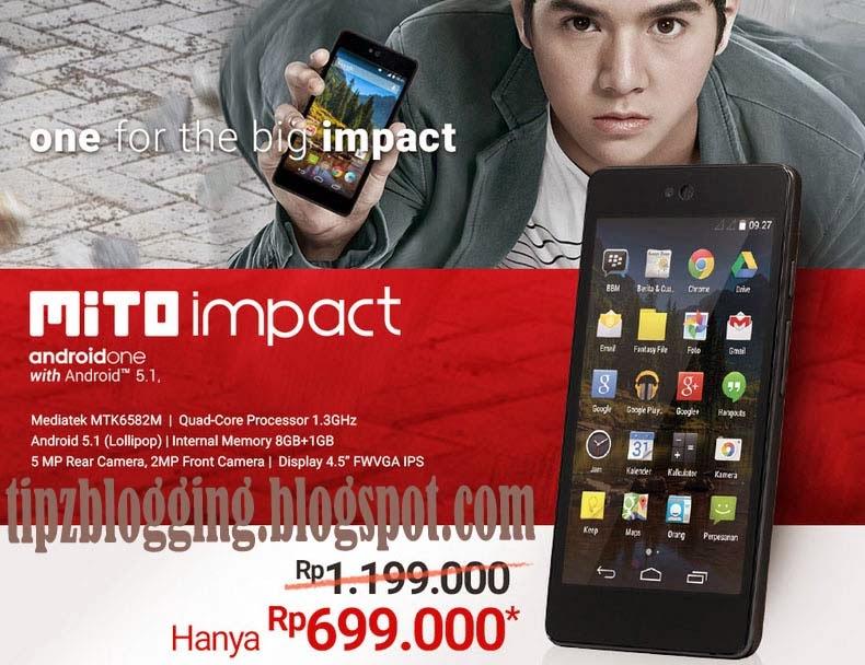 Harga HP Mito Impact Android One Terbaru