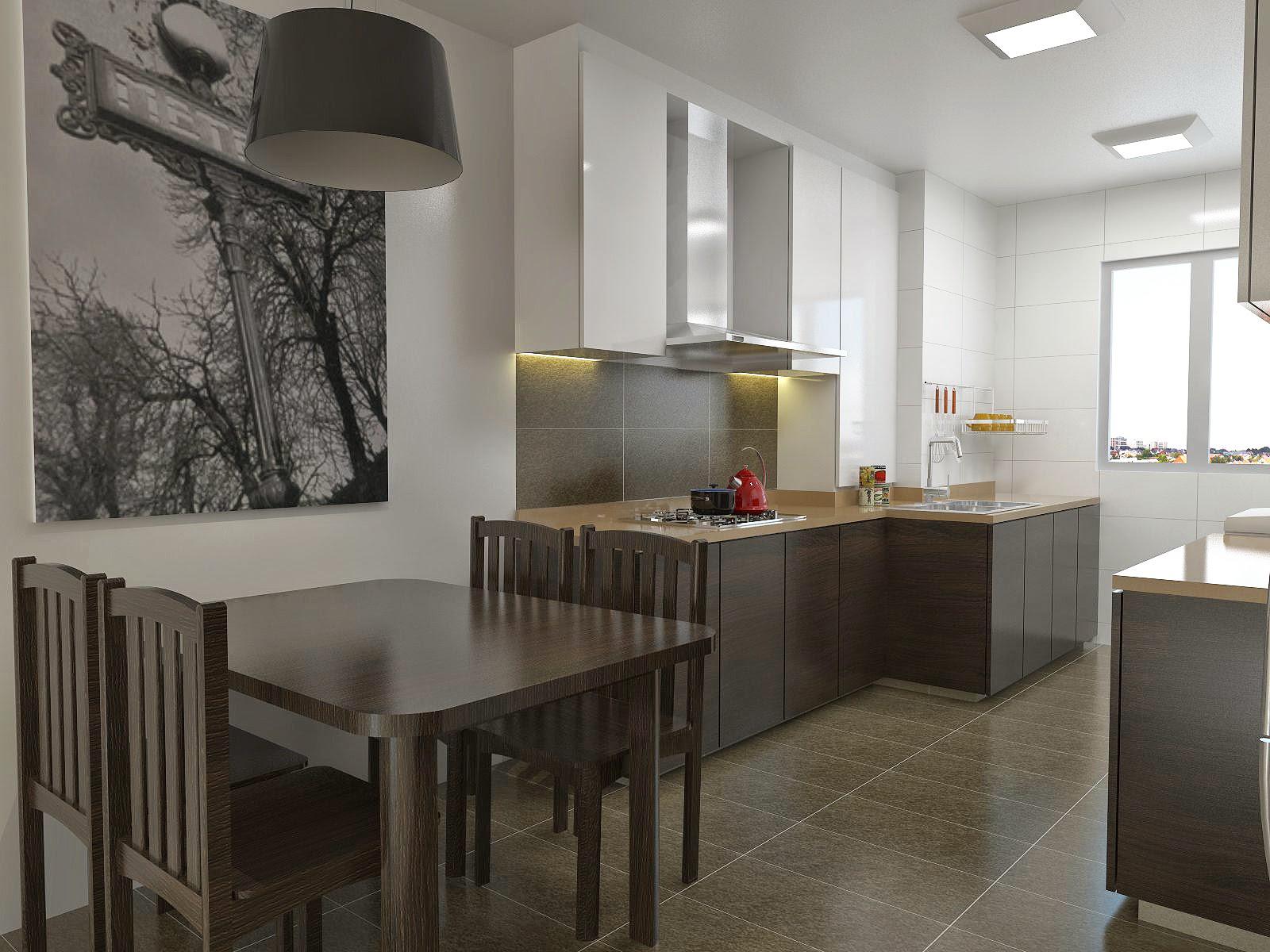 Resale 3 Room Flat Kitchen Cabi Design Freelance Interior ...