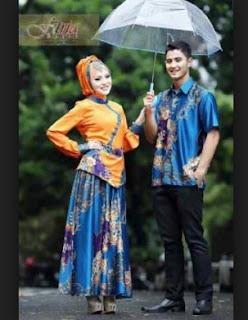 Model Baju Muslim Kombinasi Batik Dengan Kain Polos, Brokat Dan Satin
