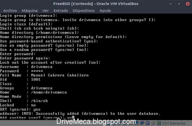 No agregamos mas cuentas por el momento en FreeBSD