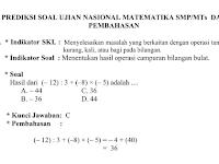 Download Soal UAS Matematika Kelas 7 SMP/MTs Semester 1 2018/2019 dan Pembahasan
