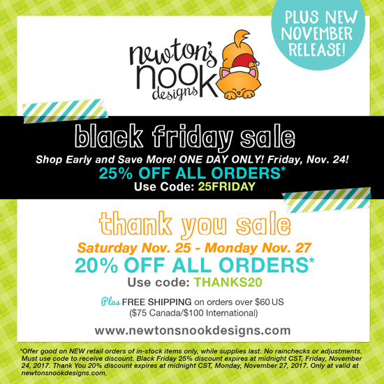 November 2017 Black Friday Sale | Newton's Nook Designs #newtonsnook