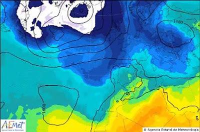 Lluvias  y bajada de temperaturas en Canarias  20, 22, y 23 septiembre