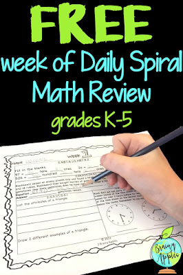 Brainy Apples, math, math retention, daily review, spiral review, morning work, homework