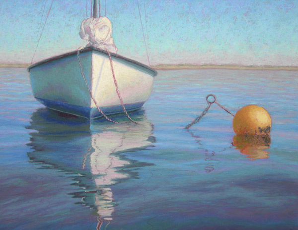 Pastel Painting Anne S Boat Ready For The Tide Moored