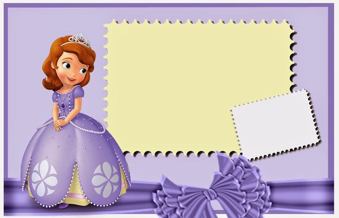 Cartoon Character Design For Tarpaulin : Lindas invitaciones de princesa sofia para imprimir gratis