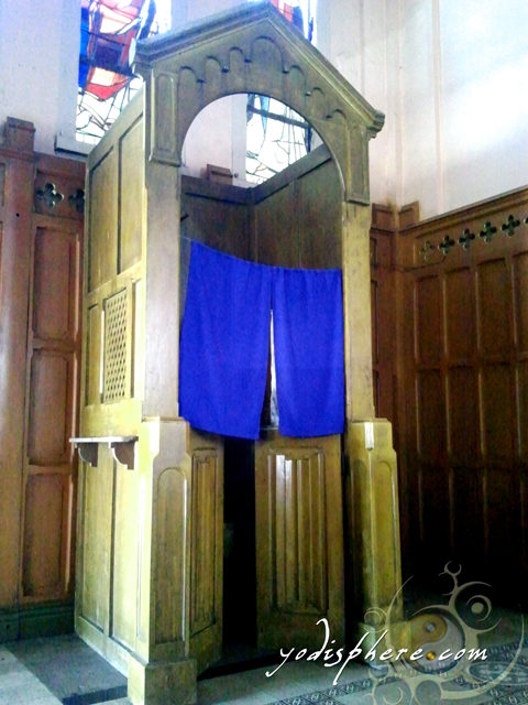 Baguio Cathedral confessional