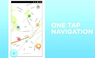 one tap navigation, Waze,