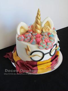 bolos Unicórnio Harry Potter bragança
