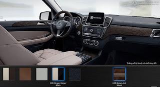 Nội thất Mercedes GLS 400 4MATIC 2015 màu Vàng Ginger/Đen 245