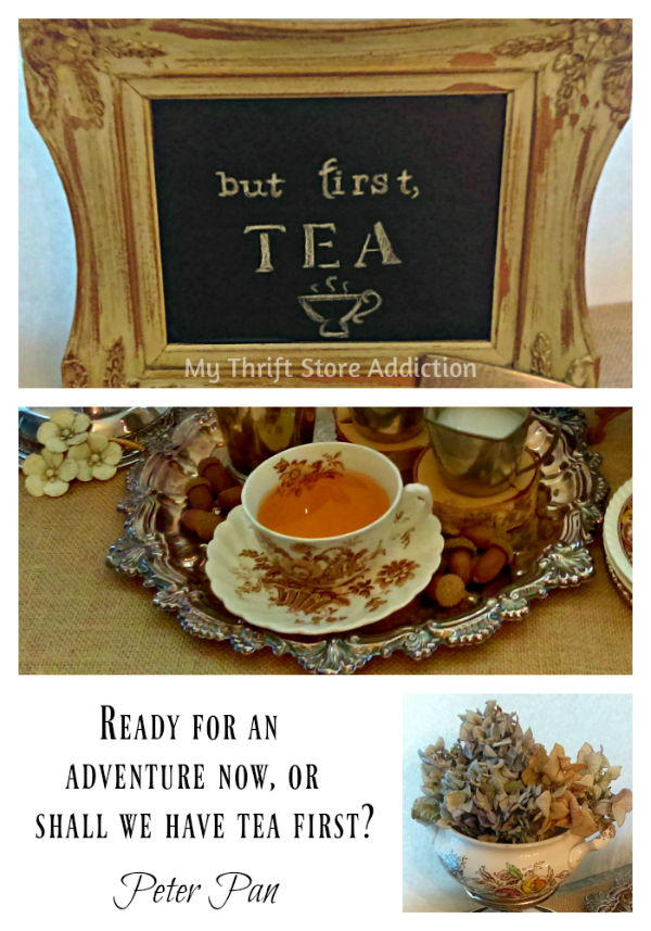 Charming tea time vignette