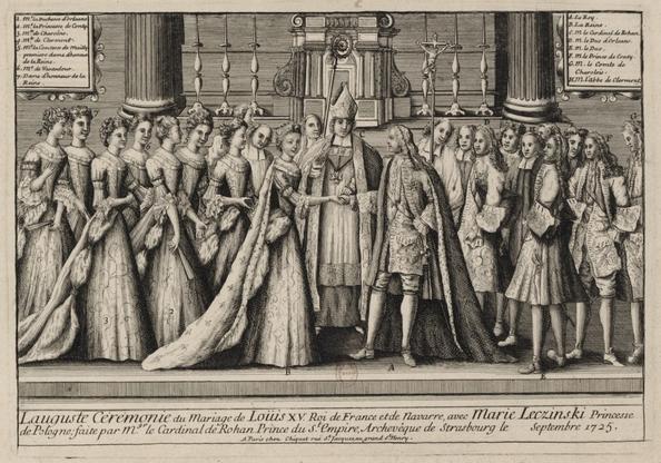 Mariage_Louis XV_Roi_France_Navarre_Marie_Leczinski_Cardinal_Rohan_5septembre_1725_Gallica_BNF