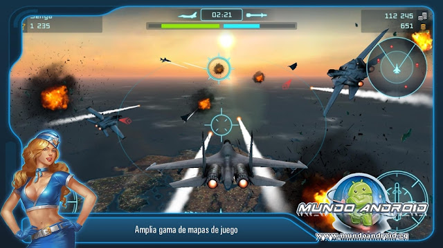 Jugabilidad de Battle Of Warplanes: COMBATES