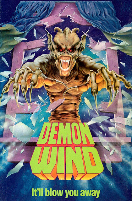 Demon Wind 1990 horror movie poster