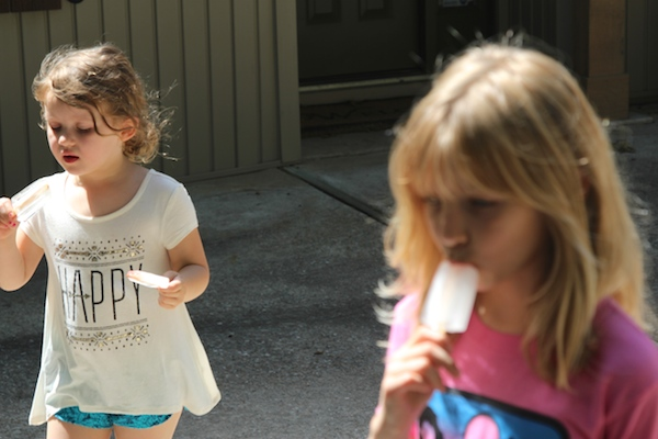 Water popsicles - Joss and Jess driveway (c)nwafoodie