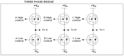 3 phase inverter bridge for 3 phase bldc motor