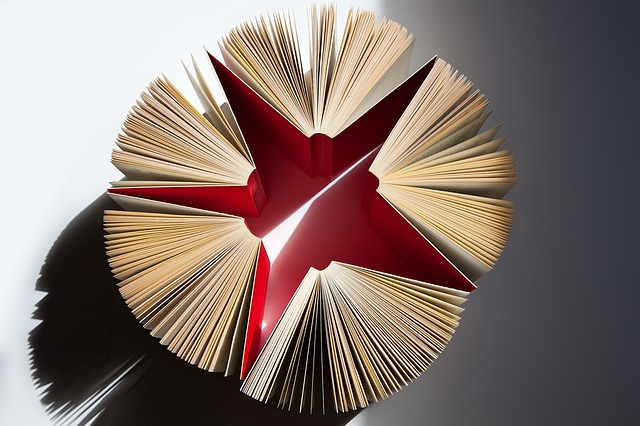 star made up of books