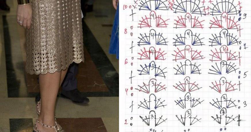 Patron Crochet Falda Brillante - Patrones Crochet