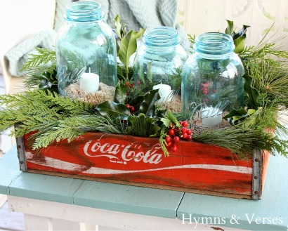 Beach Christmas Mason jars