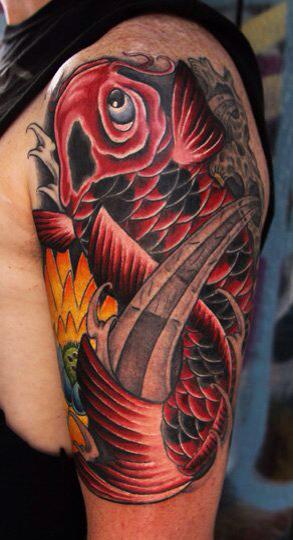 los mejores tatuajes del pez koi del mundo fotos de tatuajes