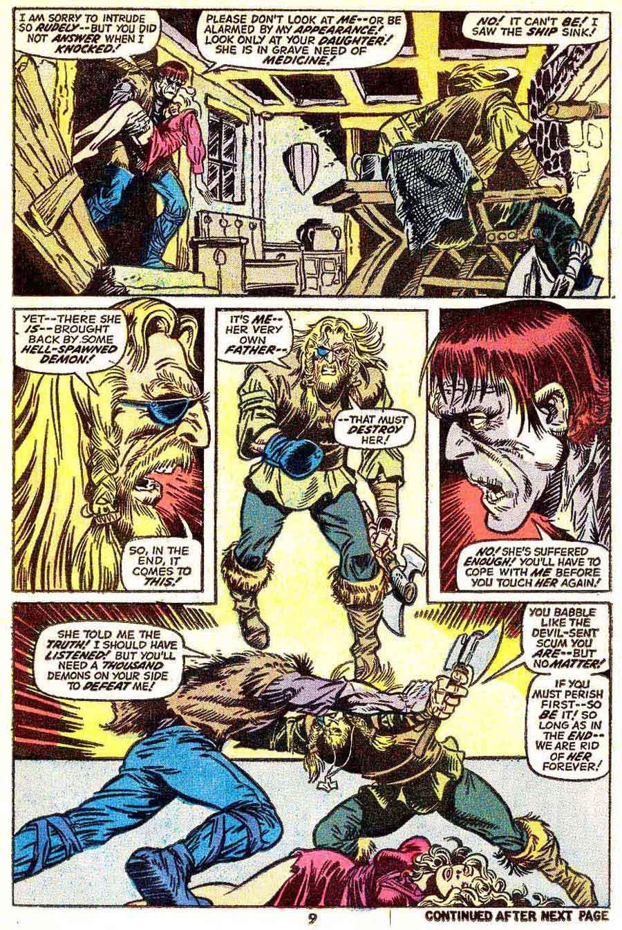 Frankenstein v2 #5 marvel comic book page art by Mike Ploog
