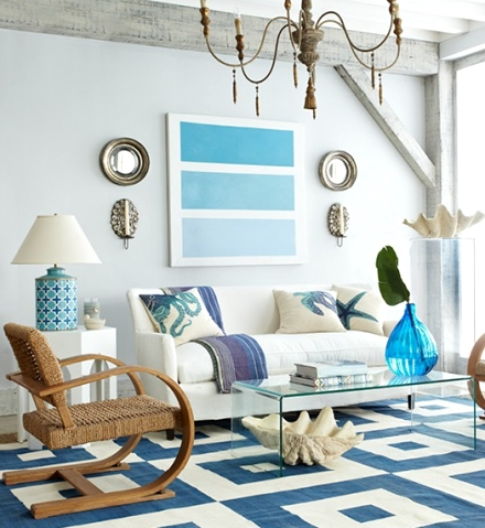 coastal blue living room