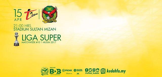 Live Streaming Keputusan T-Team Vs Kedah United Liga Super 15 April 2017