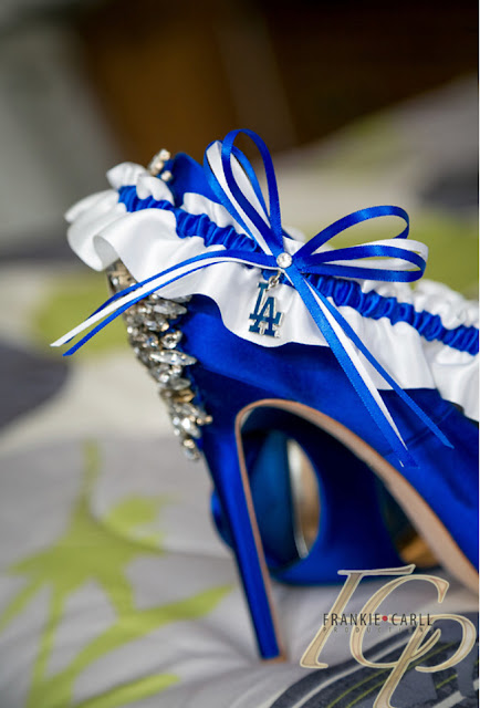 Los Angeles Dodgers Wedding Garter by Sugarplum Garters