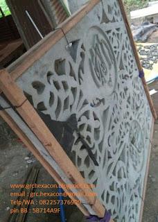 krawangan GRC kombinasi batik kaligrafi
