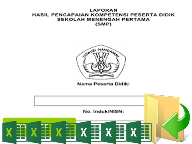 Download Format Aplikasi Raport Kurikulum 2013 Terbaru Sesuai Juknis