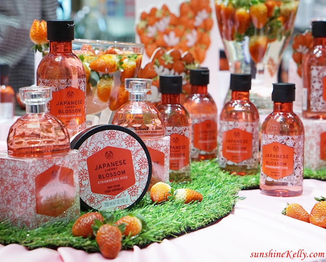 The Body Shop, Roots of Strength, Japanese Cherry Blossom Strawberry Kiss, Lip Juicer, Massage Technique, beauty review, beauty blogger, malaysia beauty influencer