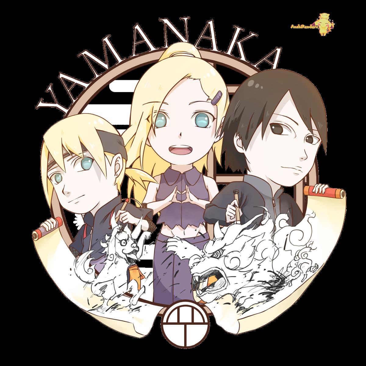 Familia Yamanaka - Ino Yamanaka, Inojin Yamanaka, Sai