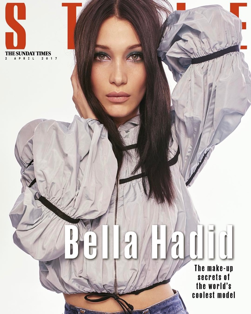 Bella Hadid flaunts casual chic designs for The Sunday Times Style