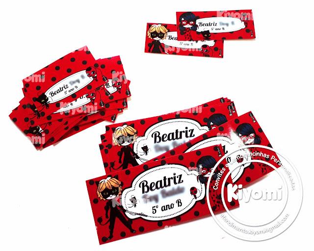 Etiquetas escolares Ladybug
