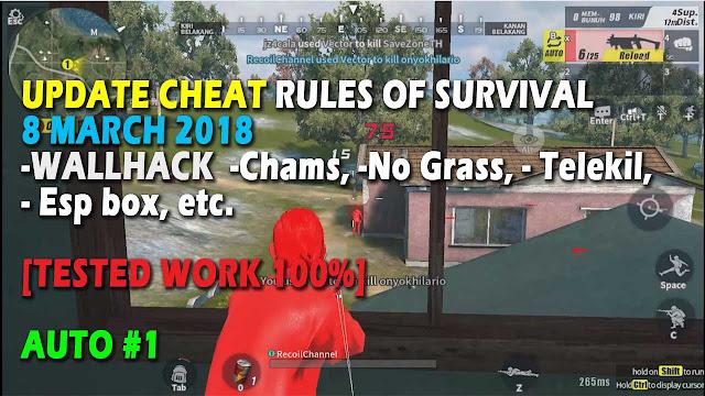 Cheat Rules of Survival Update 8 maret 2018 Leusin 3.0