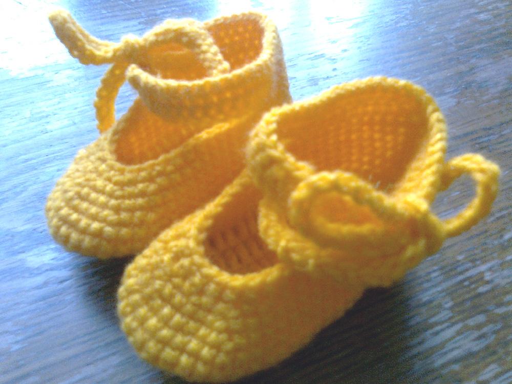 Kreativstübchen Babyschuhe Häkeln Ballerinas Mit Anleitung