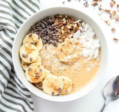 Vegan Peanut Butter Chia Seed Overnight Oats
